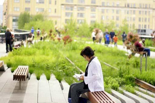 Sentados en Highline