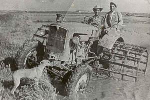 Doñana: tractor en arrozal