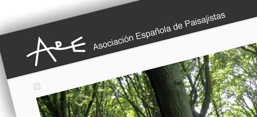 web de la Asociación española de Paisajistas