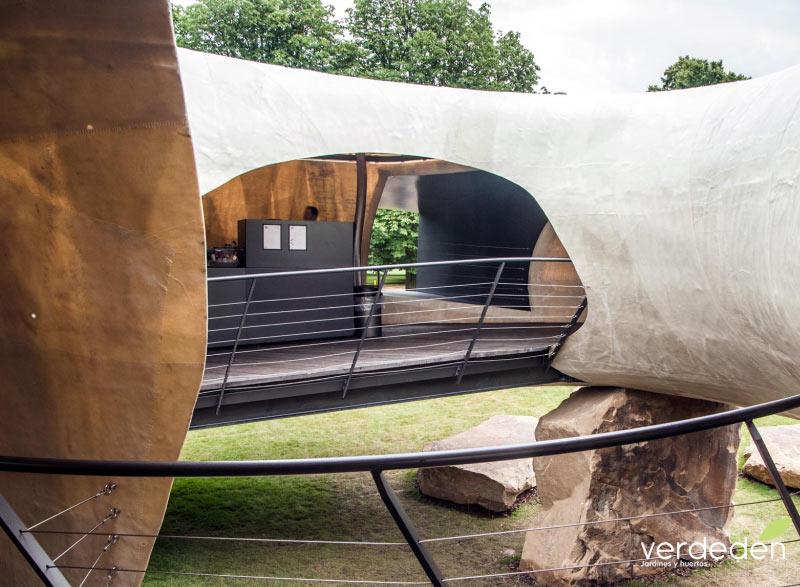 Serpentine Gallery 2014 inside cut opening