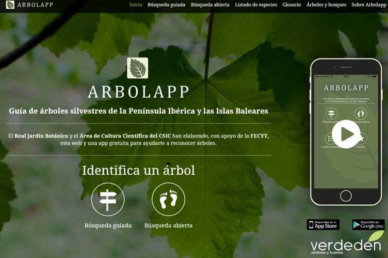 arbolapp aplicación para identificar árboles autóctonos.