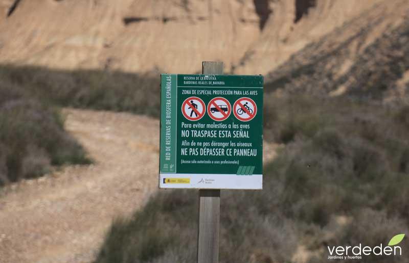 Bardenas Reales, zona restringida