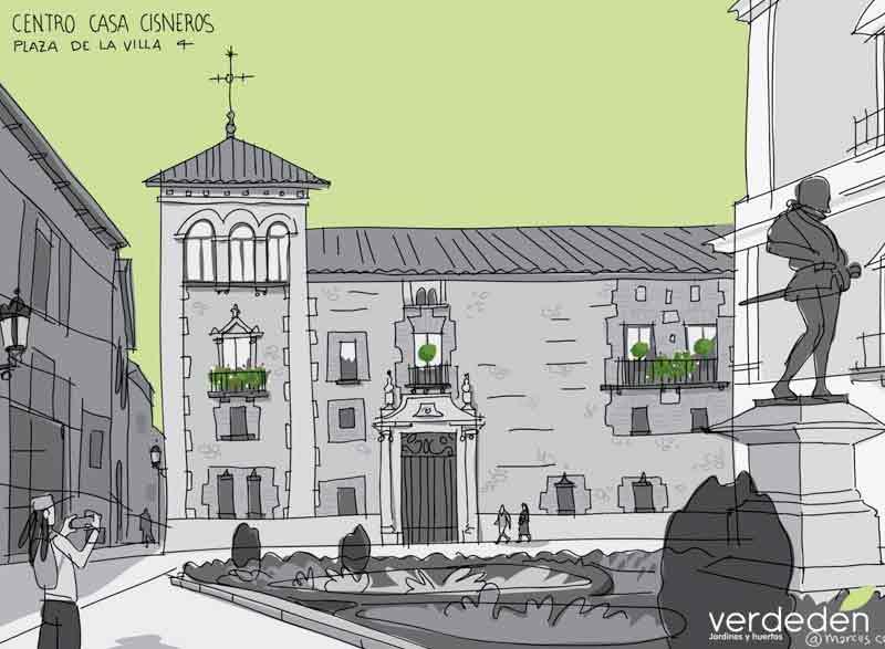 casa Cisneros_verde: Gran vía verde:Jardines en balcones y terrazas