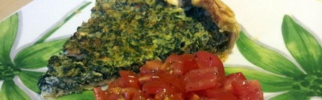 Cucina vegetariana   torta salata di spinaci, ricotta e feta greca