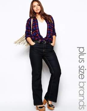 asos_plus size flare jeans