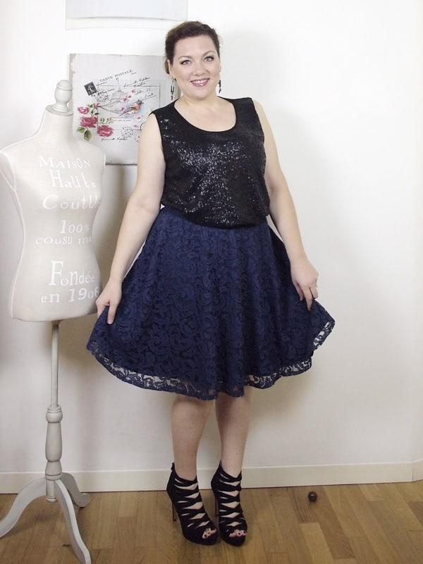 VerdementaBlog outfit curvy top paillettes Fiorella Rubino-gonna midi-tacchi alti-curvyblogger -14