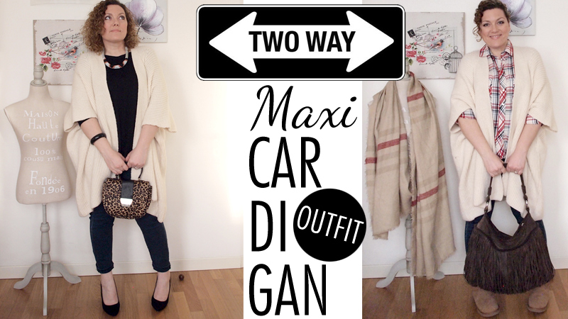 Outfit | Maxicardigan bianco in due versioni