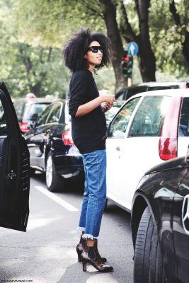 jeans sfilacciato