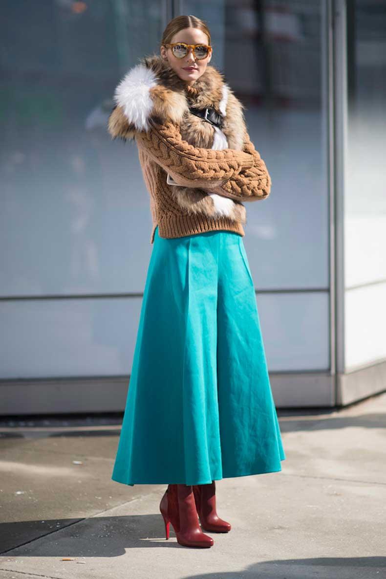 come abbinare i pantaloni culotte in inverno