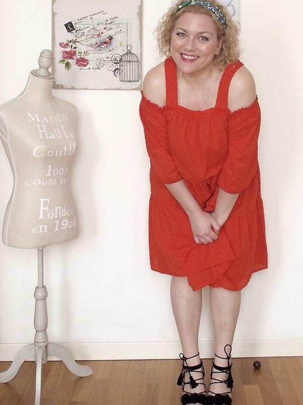 abito rosso H&M 09
