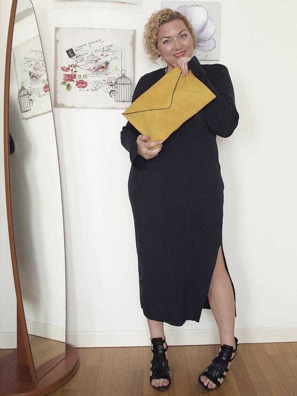 Verdementa Blog: outfit curvy con abito in maglina aderente