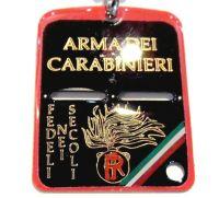i carabinieri piastrina in metallo