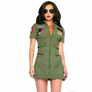 uniforme verde militare donna