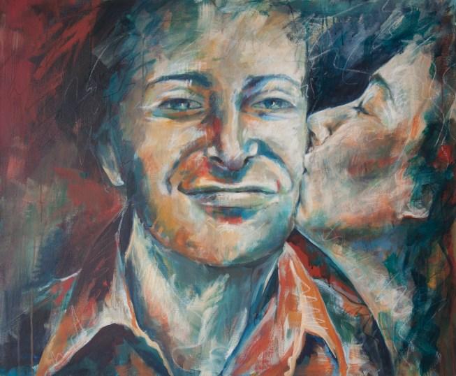 Reini und Christa, Acryl auf Leinwand, 100x120cm