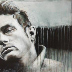 Jeams Dean, Acryl auf Leinwand, 44x44cm