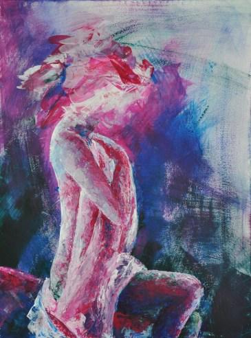 Ophelia, Acryl auf Leinwand, 80x60cm