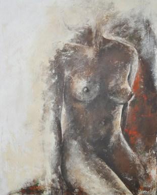 Leandra, Acryl auf Leinwand, 100x80cm