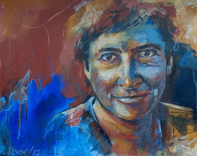 Anja, Acryl auf Acrylpapier, 50x40cm