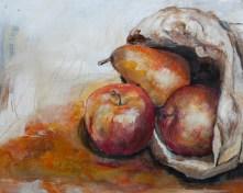 Obst, Acryl auf Acrylpapier, 50x40cm