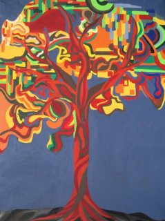 Lebensbaum, Acryl auf Leinwand, 60x80cm