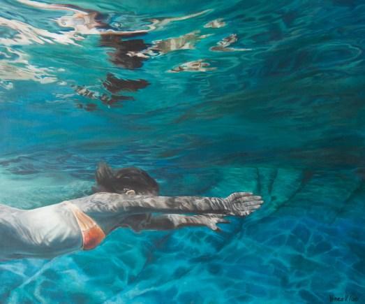 Wasserwelt, Acryl auf Leinwand,