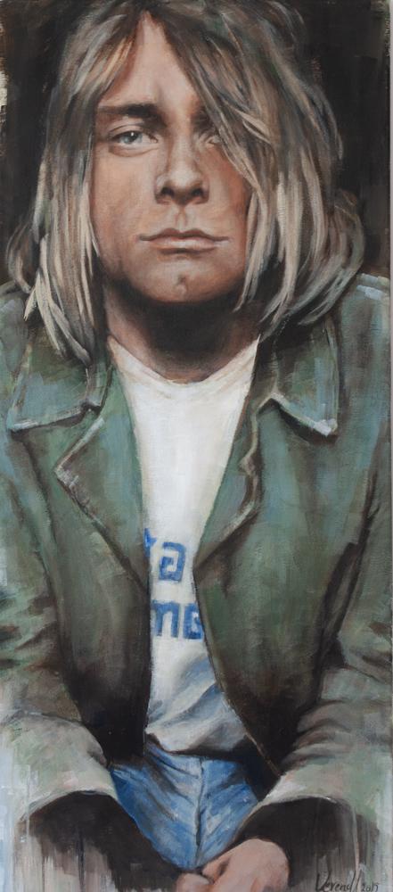 Kurt Cobain,Acryl auf Leinwand, 100x44 cm