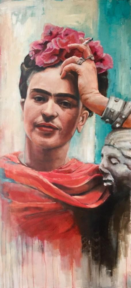 Frida Kahlo, Acryl auf Leinwand, 140x100cm