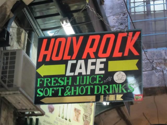 Oh look, it's the Holy Rock Cafe!