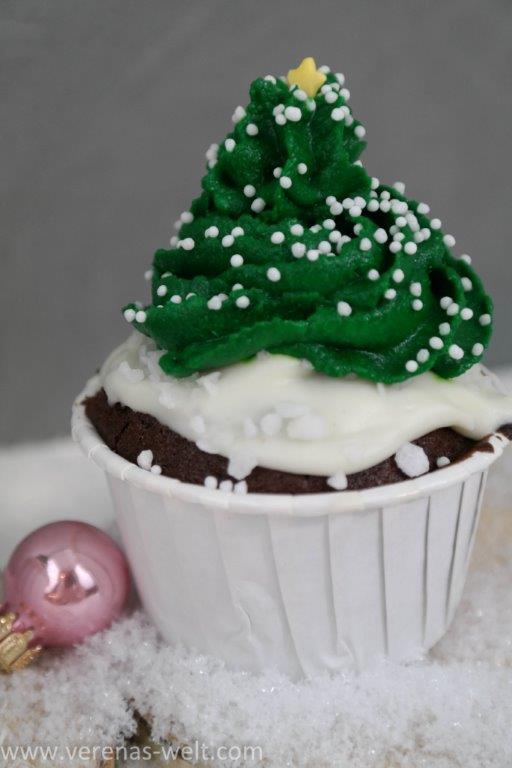 Tannenbaum-Cupcakes  für Weihnachten