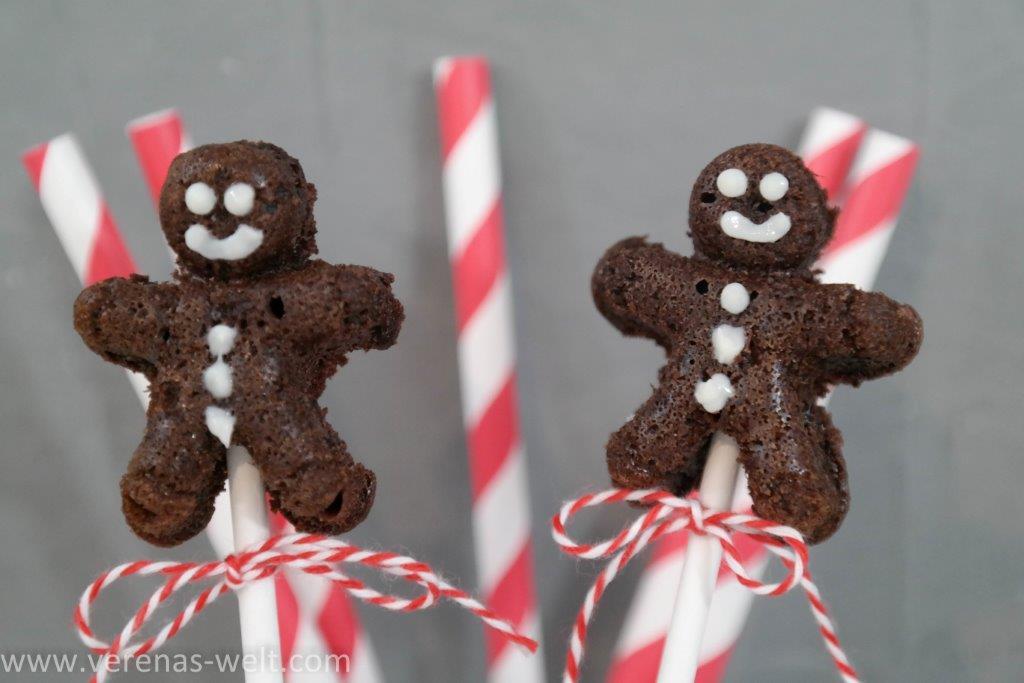 Lebkuchenmann Cake Pops für Weihnachten