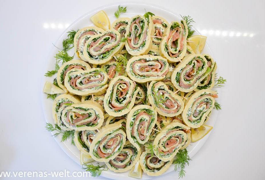 Lachs-Frischkäse-Röllchen