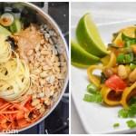 One Pot Pasta: Thai Erdnuss Nudeln