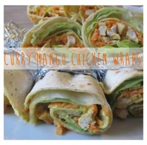 Curry Mango Chicken Wraps