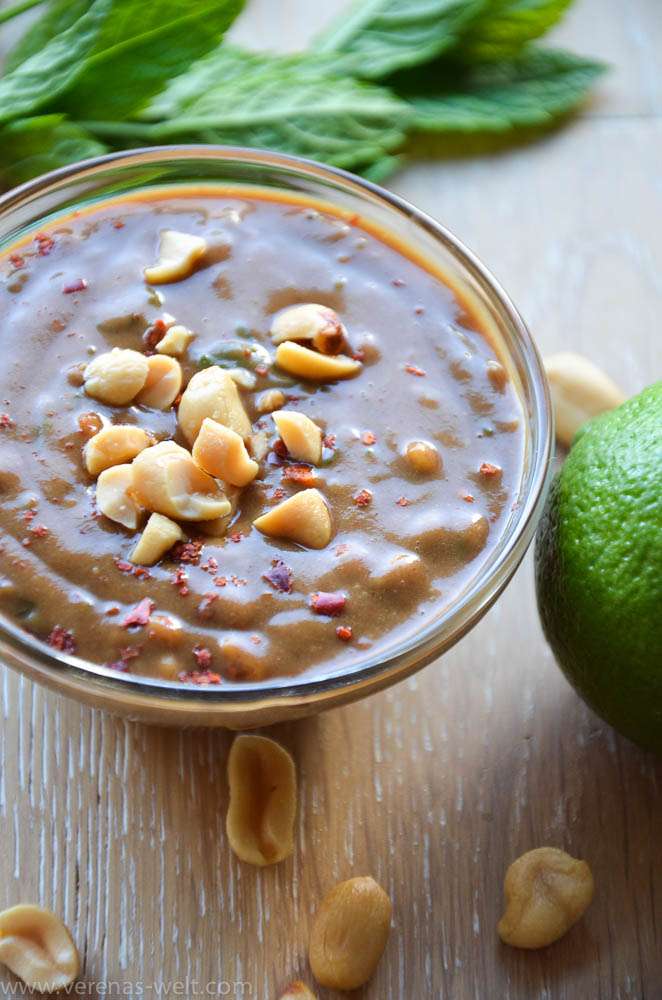 Erdnuss-Limetten-Sauce