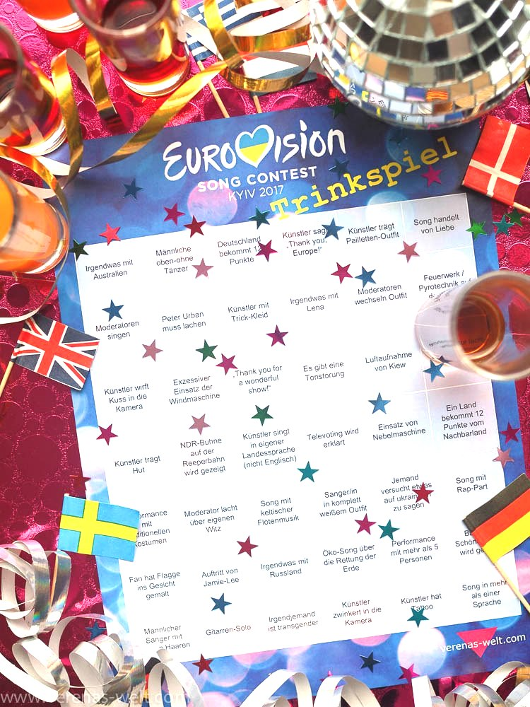 ESC 2017 - Eurovision Bingo und Trinkspiel