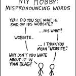Mispronouncing