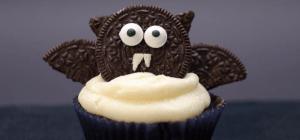 Meine besten Halloween-Rezepte: Fledermaus-Cupcakes