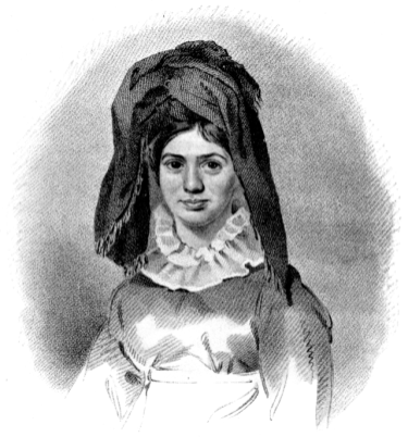 """""""Princess Caraboo"""" Drawn and engraved by N. Branwhite"""