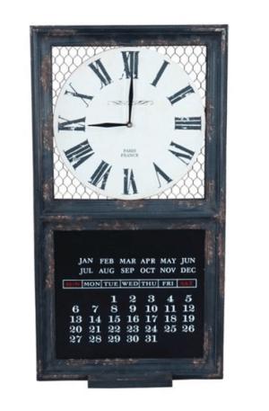 Lavagna datario con orologio
