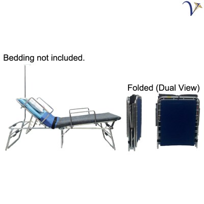Medical Response Bed with IV Pole and Rails (RB-MR400ISR)