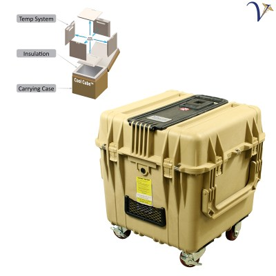 Cool Cube™ 28 Medical Transport Cooler at Frozen Temperatures 050918