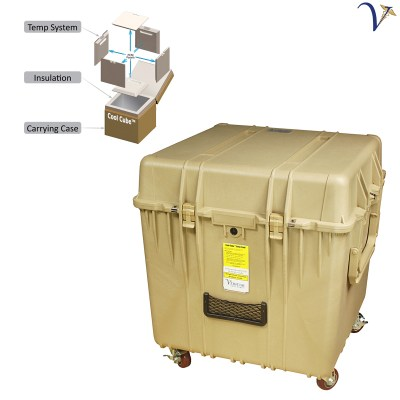 Cool Cube™ 96 Specimen Transport Cooler at Controlled Room Temperatures 050918
