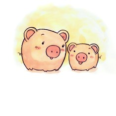 Oscar the Pig and Mommy