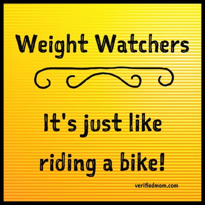 Weight Watchers - It's just like riding a bike!