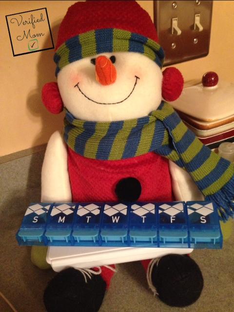 Snowman Pill Holder