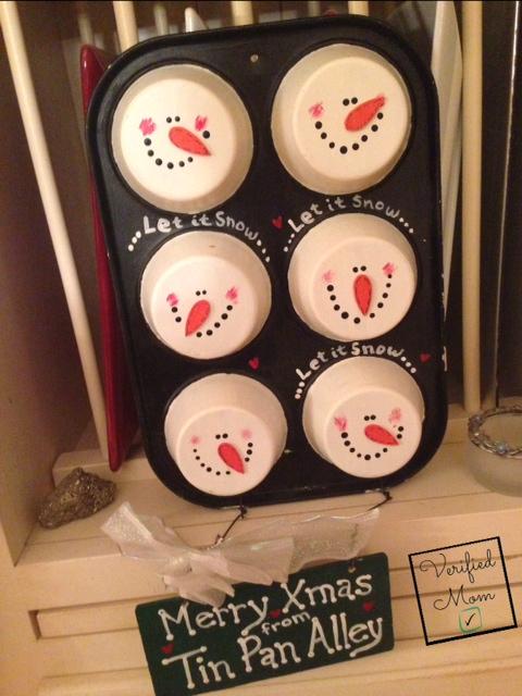 Cupcake tin holiday decor