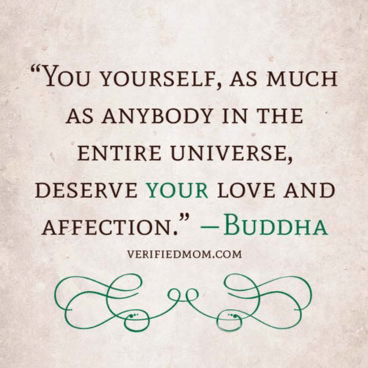 You deserve your own love!