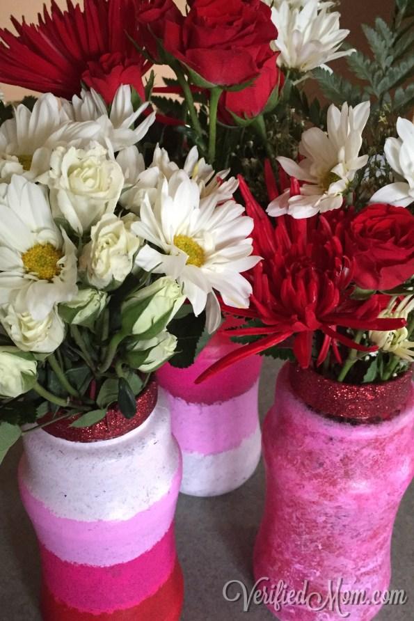 DIY Kid Friendly Valentine's Day Craft Vases