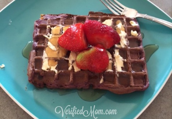 Purple Waffles always make breakfast dinners fun!