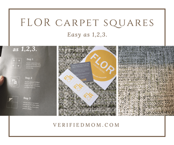 FLOR carpet squares - product review - it's as easy as 1,2,3